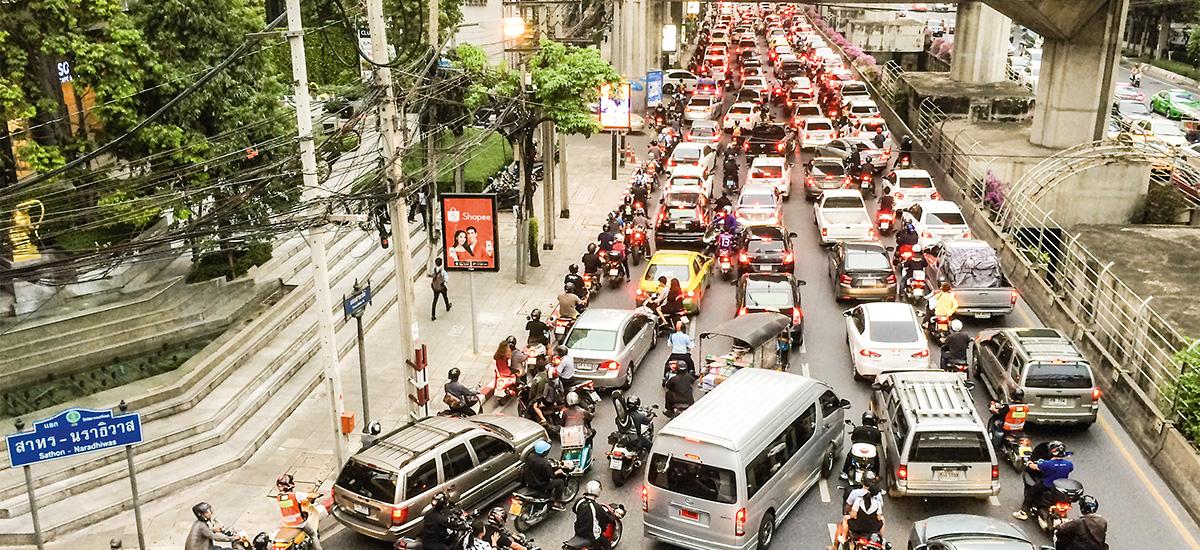 Verkehrschaos in China