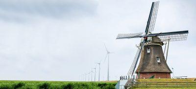 Windmühle und Windkrafträder